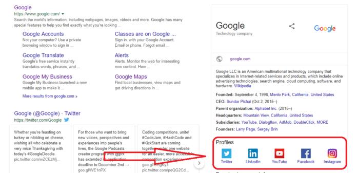 google search profile