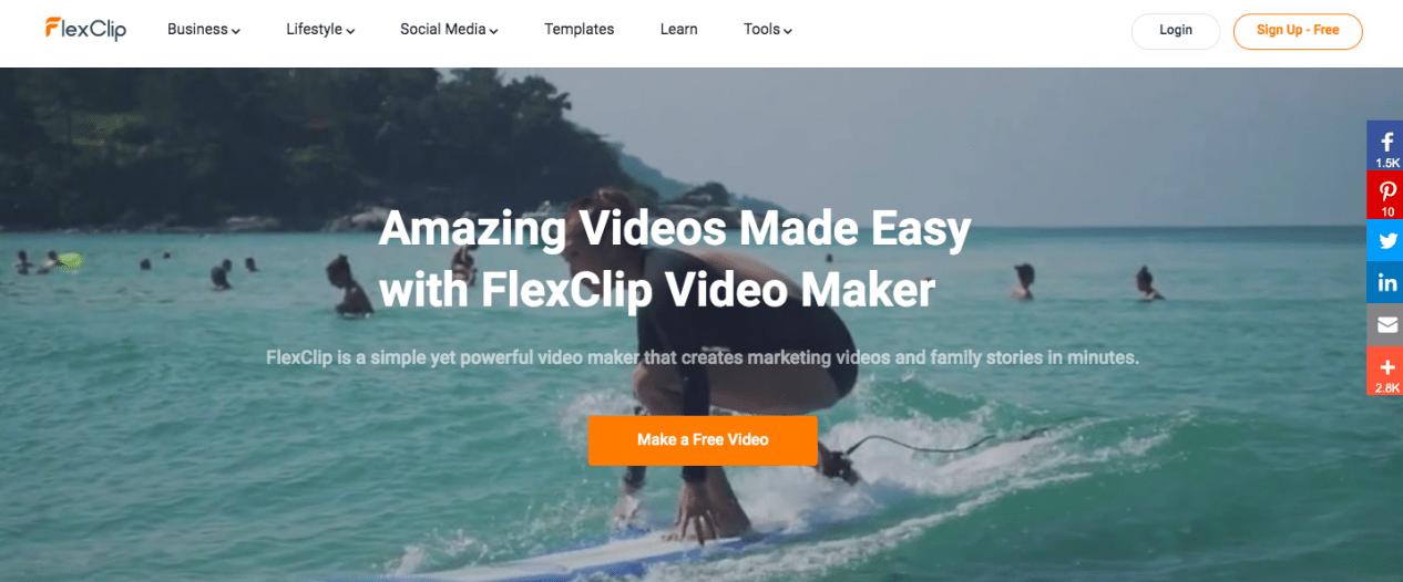 Online video presentation at FlexClip
