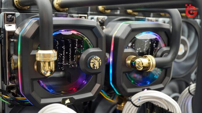 Crypto-mining rig loaded with Nvidia RTX 3090
