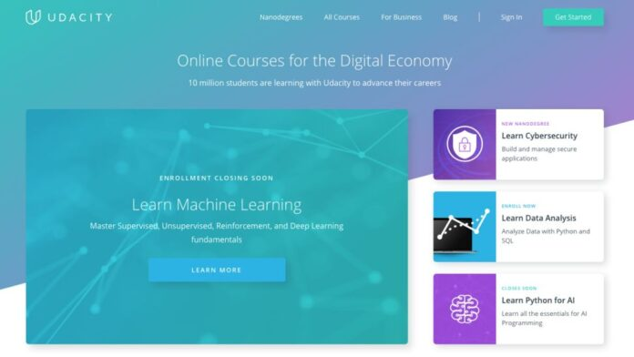 Python, JavaScript, Java, or C++ with a Nanodegree from Udacity
